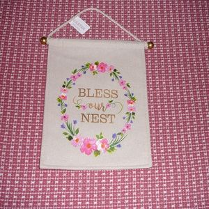 Bless Our Nest Fabric Floral Wall Door Hang Decor
